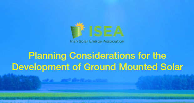 Planning Considerations for the Development of Ground Mounted Solar